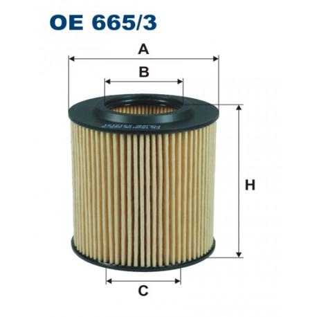 FILTRON FILTR OLEJU OE665/3