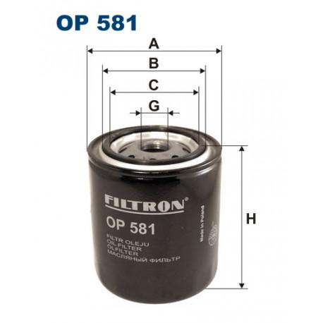 FILTRON FILTR OLEJU OP 581
