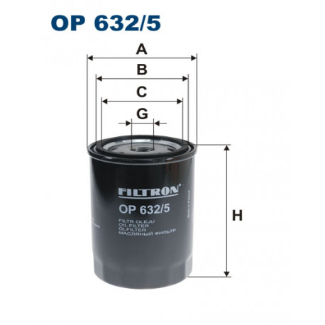 FILTRON FILTR OLEJU OP632/5