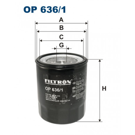 FILTRON FILTR OLEJU OP 636/1