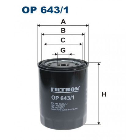 FILTRON FILTR OLEJU OP643/1