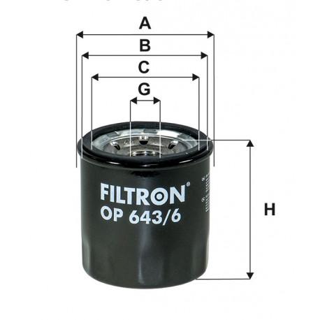 FILTRON FILTR OLEJU OP643/6