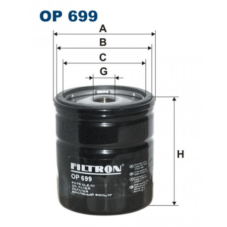 FILTRON FILTR OLEJU OP 699