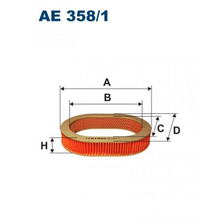 FILTRON FILTR POWIETRZA AE358/1