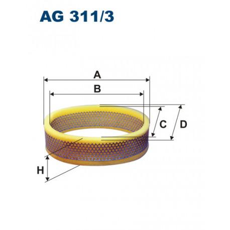FILTRON FILTR POWIETRZA AG311/3