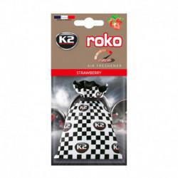 K2 ROKO RACE ZAPACH SAMOCHODOWY TRUSKAWKA