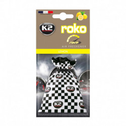 K2 ROKO RACE ZAPACH SAMOCHODOWY LEMON
