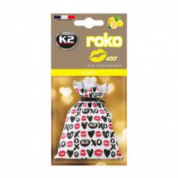 K2 ROKO KISS ZAPACH SAMOCHODOWY LEMON