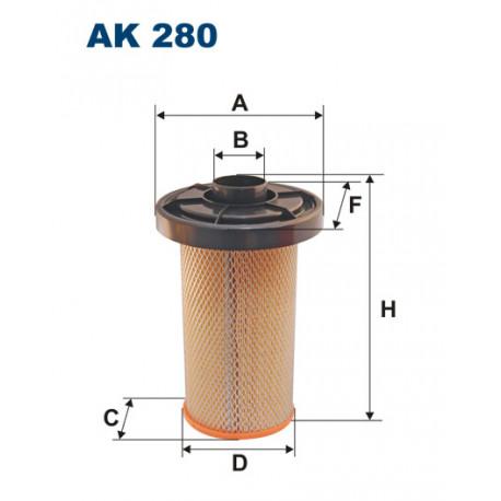 FILTRON FILTR POWIETRZA AK280