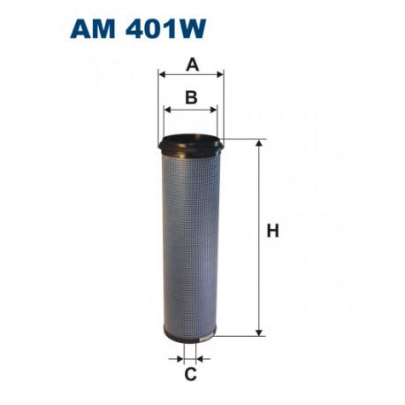 FILTRON FILTR POWIETRZA AM401+AM401/1 AM 401W