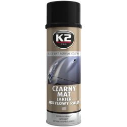 K2 LAKIER CZARNY MAT SPRAY 500ML