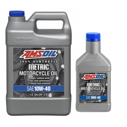 AMSOiL 10W40 Synthetic Motorcycle Oil 4,73L