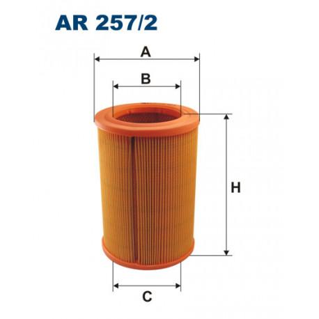 FILTRON FILTR POWIETRZA GAZELA ADCR PRZELOTOWY AR257/2