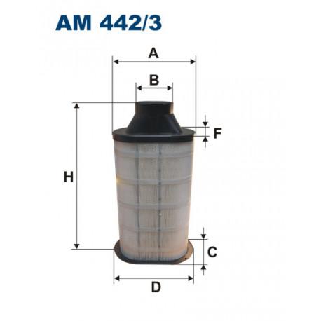 FILTRON FILTR POWIETRZA TRUCK AM442/3
