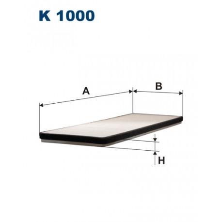 Image of FILTRON FILTR KABINY K1000