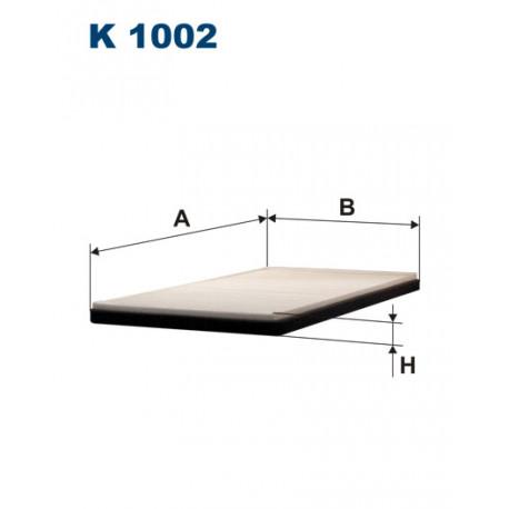 Image of FILTRON FILTR KABINY K1002
