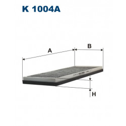 FILTRON FILTR KABINY WEGLOWY K1004A