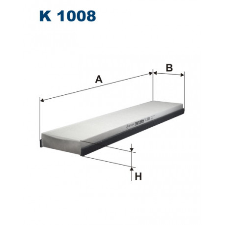 Image of FILTRON FILTR KABINY K1008