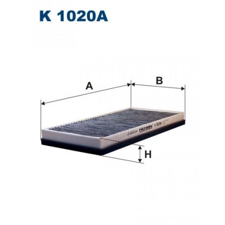 FILTRON FILTR KABINY WEGLOWY K1020A