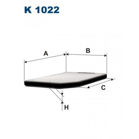 FILTRON FILTR KABINY K1022