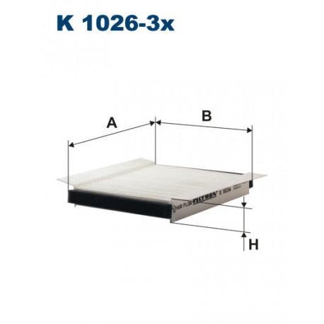 FILTRON FILTR KABINY K1026-3X
