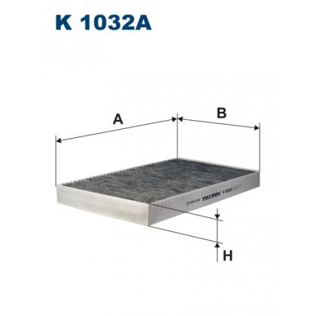 FILTRON FILTR KABINY WEGLOWY K1032A