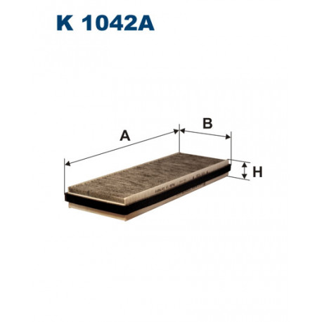 FILTRON FILTR KABINY WEGLOWY K1042A