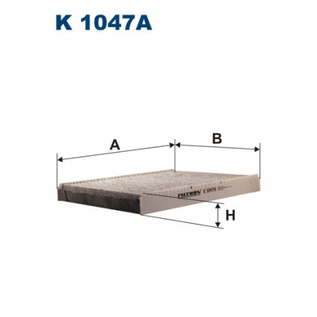 FILTRON FILTR KABINY WEGLOWY K1047A