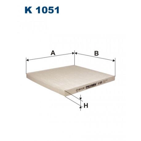 FILTRON FILTR KABINY K 1051