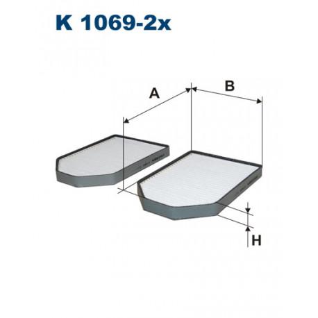 FILTRON FILTR KABINY K1069-2X