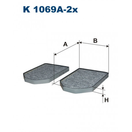 FILTRON FILTR KABINY WEGLOWY K1069A-2X