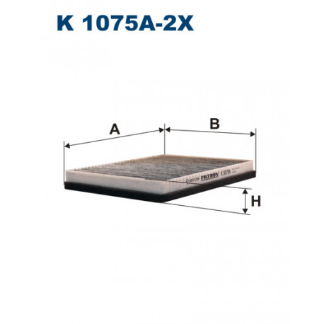 FILTRON FILTR KABINY WEGLOWY K 1075A-2X