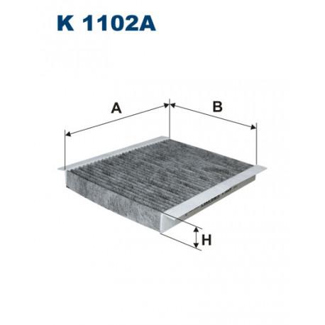 FILTRON FILTR KABINY WEGLOWY K1102A
