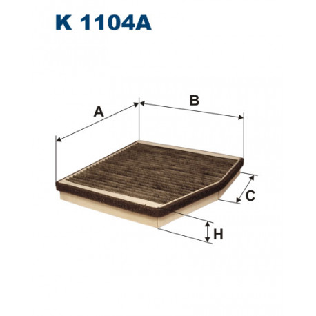 FILTRON FILTR KABINY WEGLOWY K 1104A
