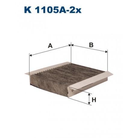FILTRON FILTR KABINY WEGLOWY K1105A-2X