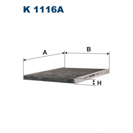 FILTRON FILTR KABINY WEGLOWY K1116A