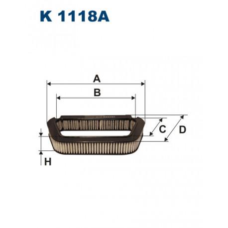 FILTRON FILTR KABINY WEGLOWY K1118A