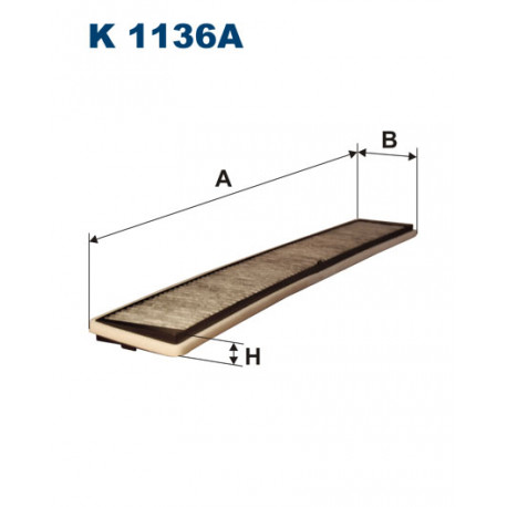 FILTRON FILTR KABINY WEGLOWY K1136A