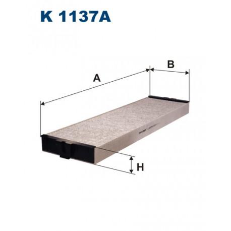FILTRON FILTR KABINY WEGLOWY K 1137A
