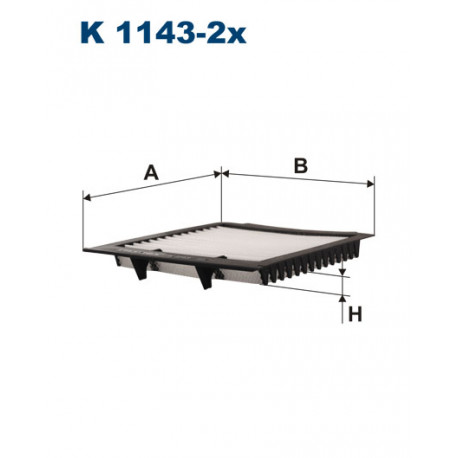 FILTRON FILTR KABINY K 1143-2X