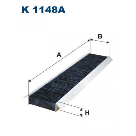 FILTRON FILTR KABINY WEGLOWY K1148A