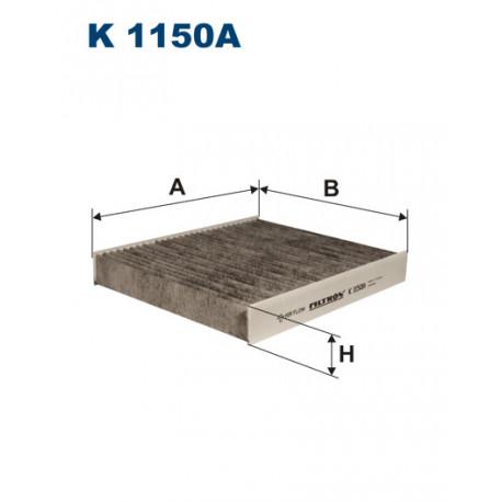 FILTRON FILTR KABINY WEGLOWY K1150A