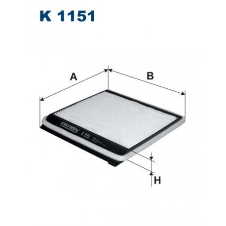 FILTRON FILTR KABINY K1151