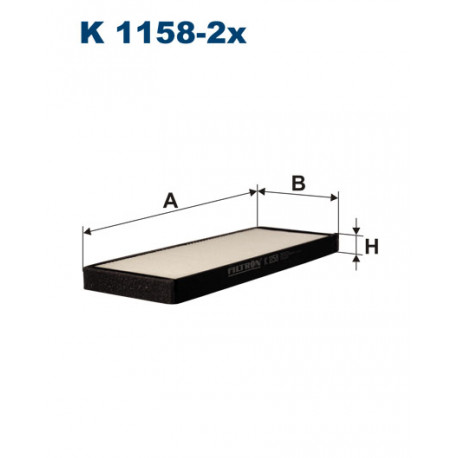 FILTRON FILTR KABINY K1158-2X