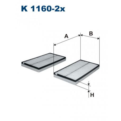 FILTRON FILTR KABINY K 1160-2X