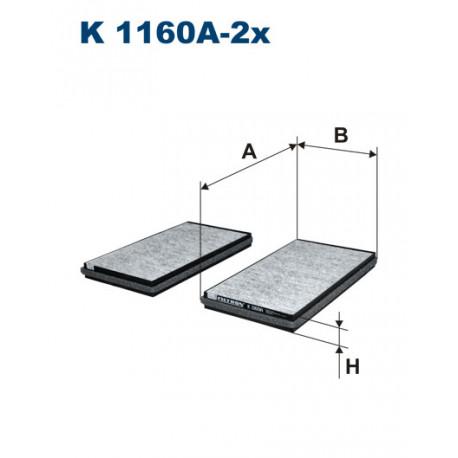 FILTRON FILTR KABINY WEGLOWY K1160A-2X
