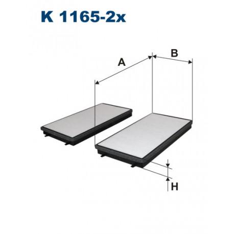 FILTRON FILTR KABINY K 1165-2X
