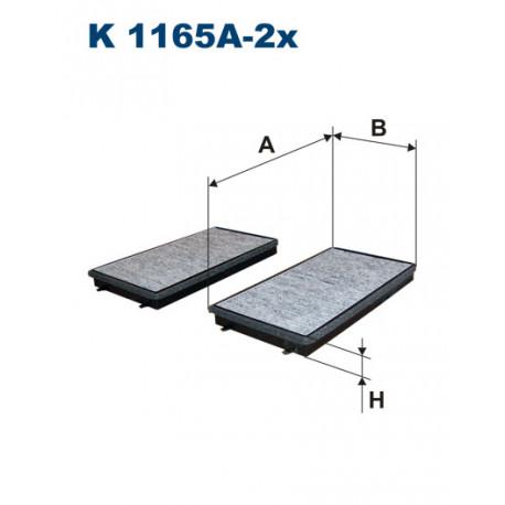 FILTRON FILTR KABINY WEGLOWY K1165A-2X
