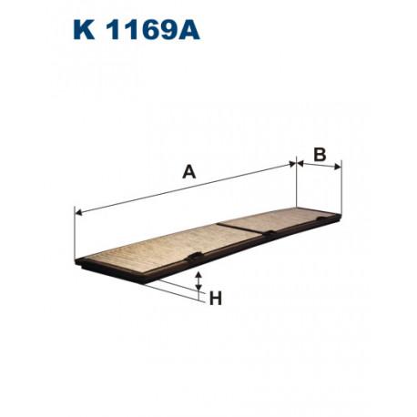FILTRON FILTR KABINY WEGLOWY K1169A