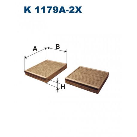 FILTRON FILTR KABINY WEGLOWY K1179A-2X